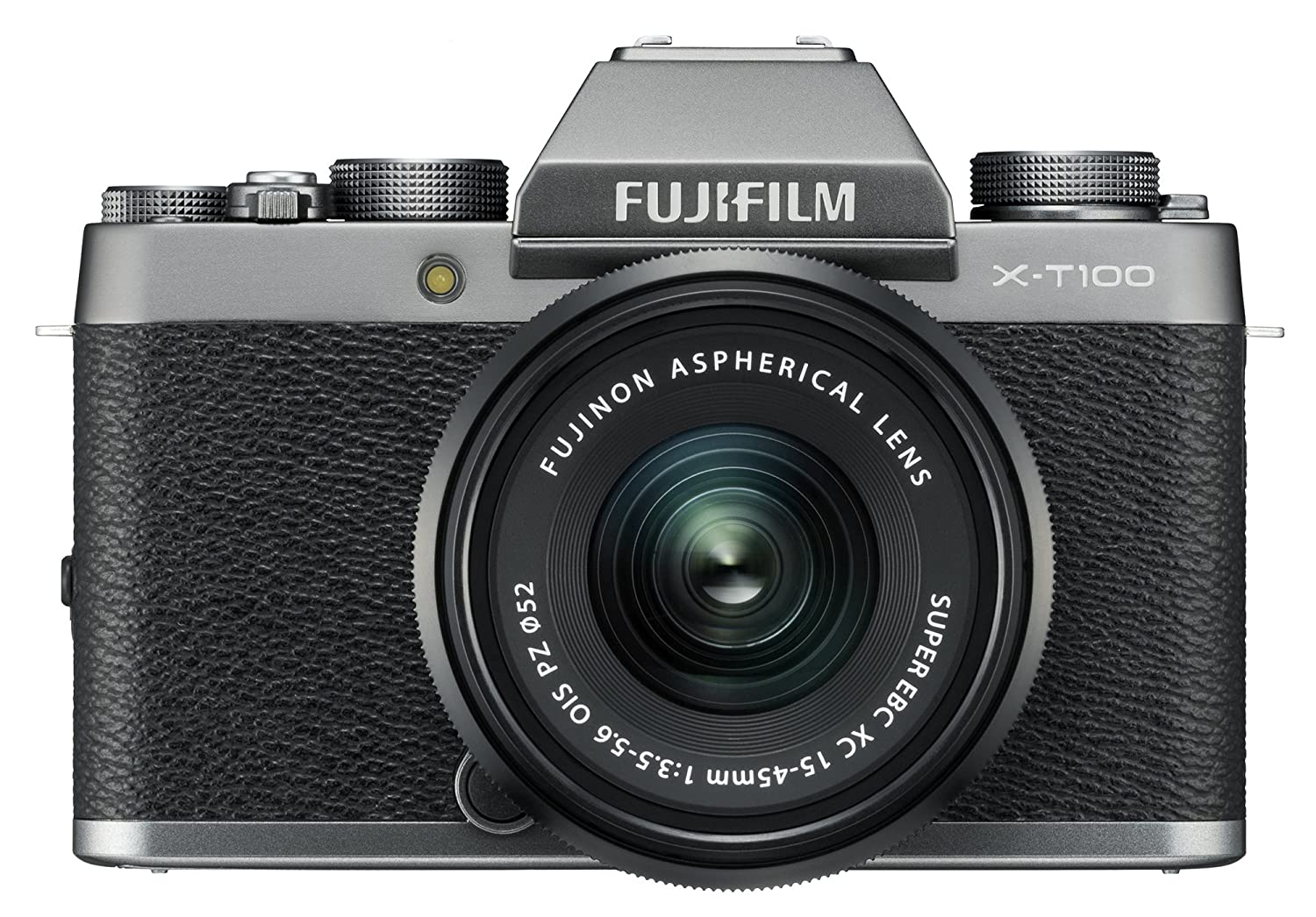 Fujifilm X-T100 Mirrorless Digital Camera w/XC15-45mmF3 5-5 6 OIS PZ Lens -  Dark Silver