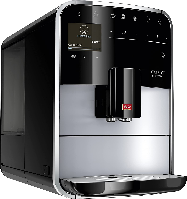 Melitta 970-306 - Cafetera automaticá (1.8L, 15 bar, 1450 W), con molinillo integrado, LCD display, My-Coffee, espumadador de leche, color plata: Amazon.es: Hogar