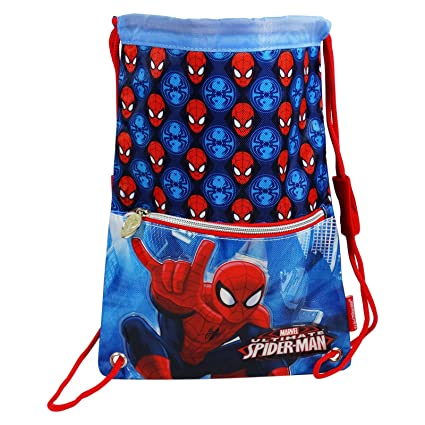 Dc Spiderman Power Bolsas de morral de lazo Mochila Bolso Escolar Ninos