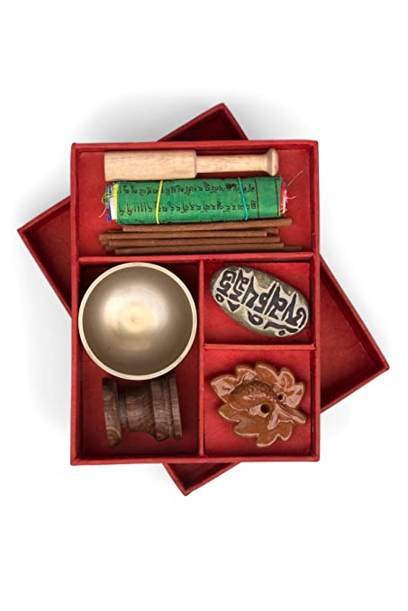 Ten Thousand Villages Singing Bowl Meditation Box Kit 'Meditation &  Relaxation Kit'