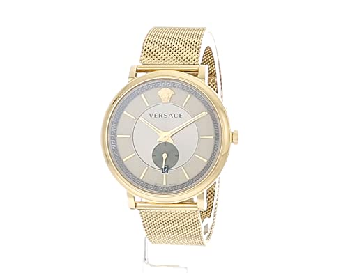 2473a3657 Amazon.com: Versace Men's Manifesto Edition Swiss-Quartz Watch with  Stainless-Steel Strap, Silver, 18 (Model: VBQ070017): Watches