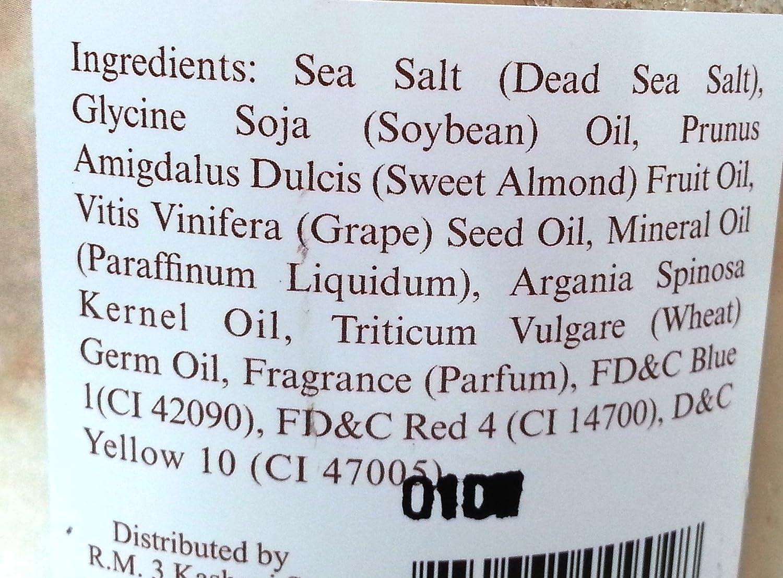 Amazon.com : DEAD SEA COLLCECTION Argan Dead Sea Salt Scrub with Dead Sea Salts & Argan Oil by N/A : Beauty