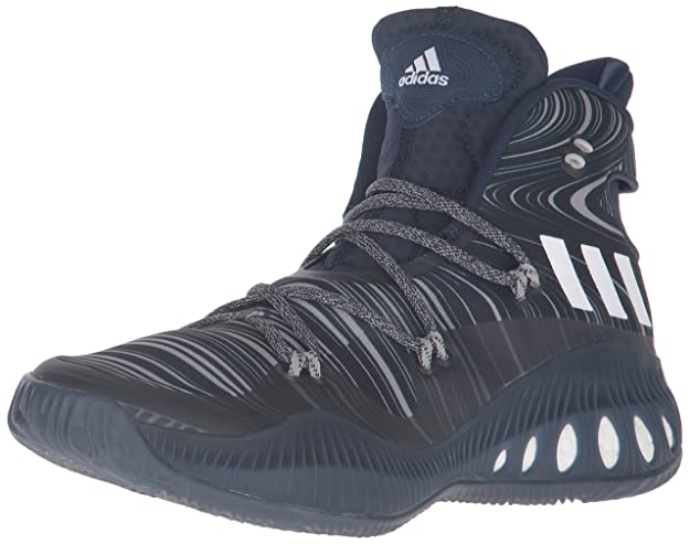 adidas Originals Men's Shoes | Crazy Explosive Basketball, Collegiate Navy/White/Dark Navy, (5 M US)