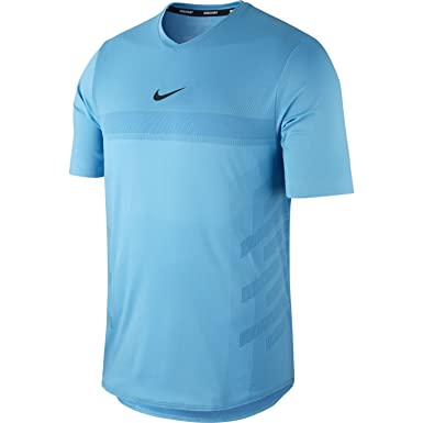 big sale 524fb 41c3d Amazon.com: Nike Rafa Court AeroReact Slim Fit Tennis Shirt ...