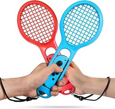 Keten Raqueta de Tenis para Nintendo Switch Pack de 2 Raquetas de Tenis para Mandos Joy-con de Nintendo Switch para Jugar a Juego de Tenis (1 Azul y 1 Roja): Amazon.es: Electrónica