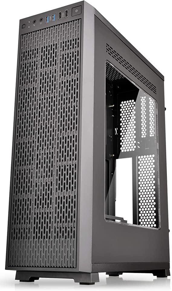Thermaltake Core G3 AE Black Edition Slim Small Form Factor ATX Perforated Metal Front and Top Panel Gaming Computer Case with Two 120mm Front Fan Pre-installed CA-1G6-00S1WN-A0
