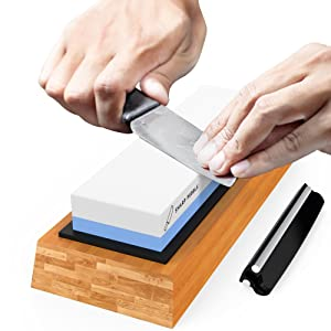 Mighty Dreams Premium Knife Sharpening Stone 2 Side Grit 1000/6000 Whetstone