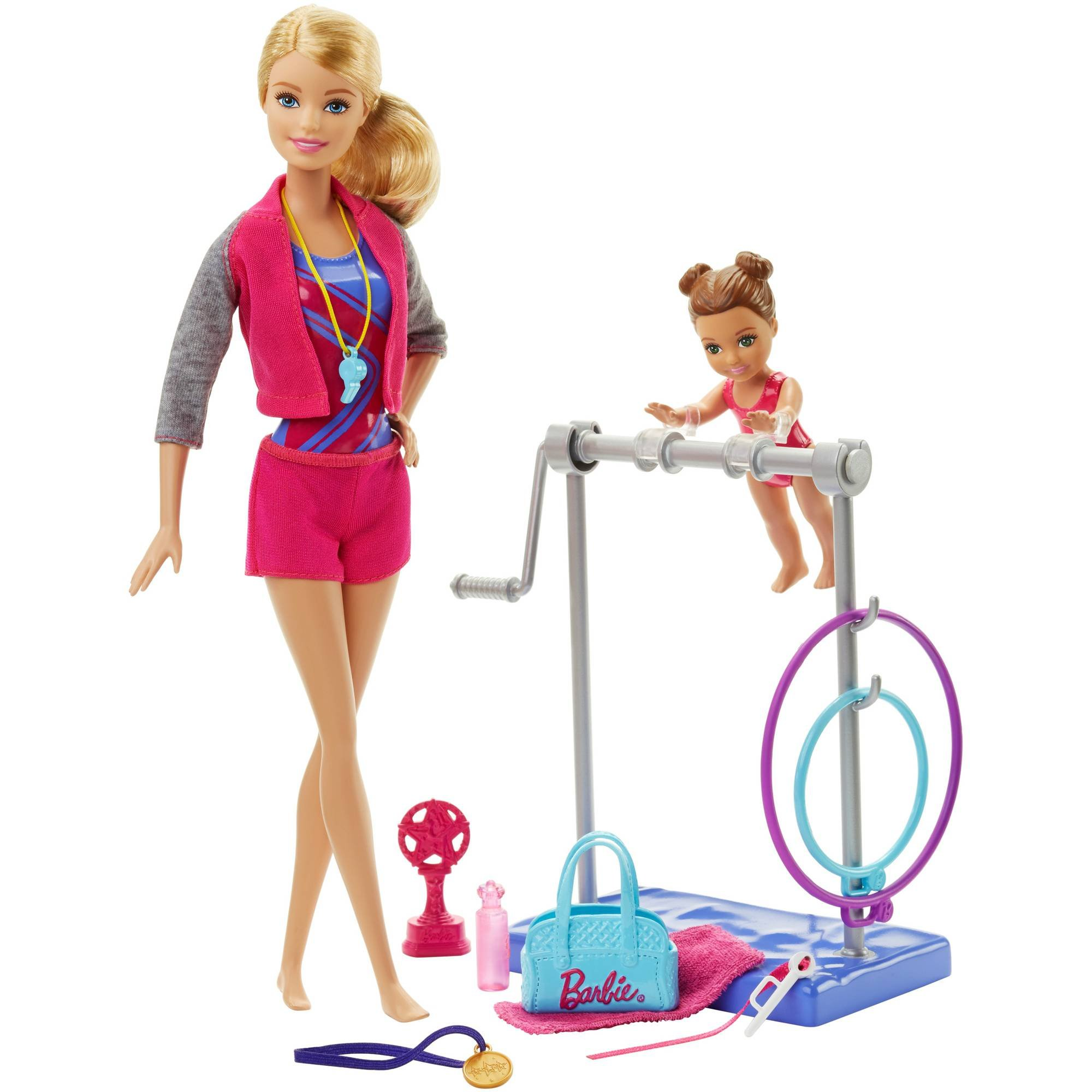 Barbie Gymnastic Coach Doll and Playset