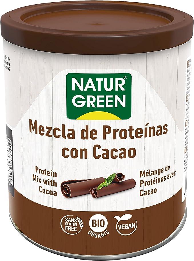 NaturGreen Mezcla de Proteínas con Cacao Bio 250g -Pack de ...
