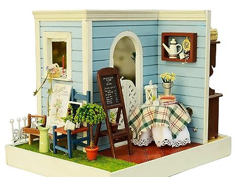Mobili Per Casa Delle Bambole Fai Da Te : Cutebee miniatura casa delle bambole con mobili fai da te kit di