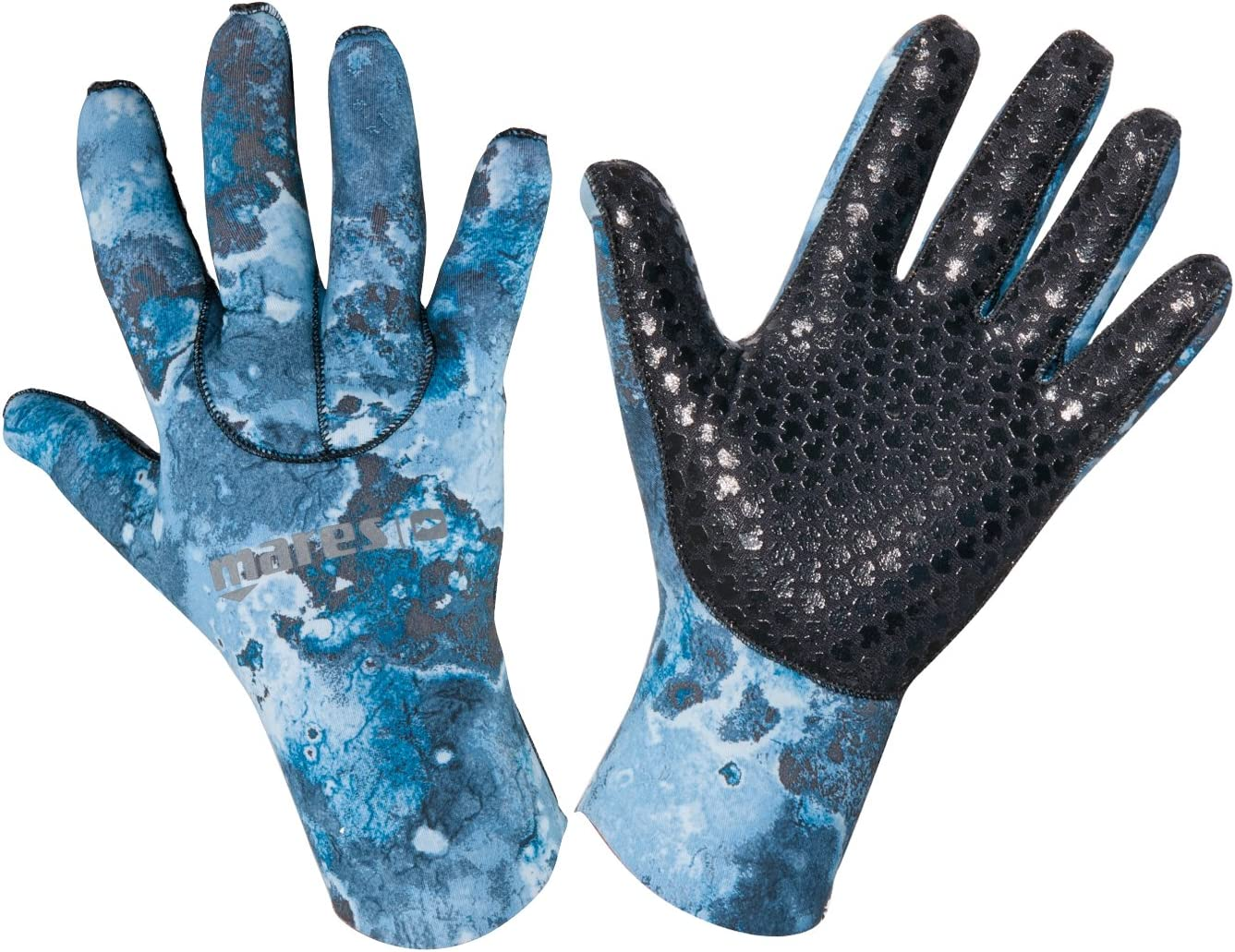 Mares 3mm Camo Blue 30 Scuba Diving Gloves