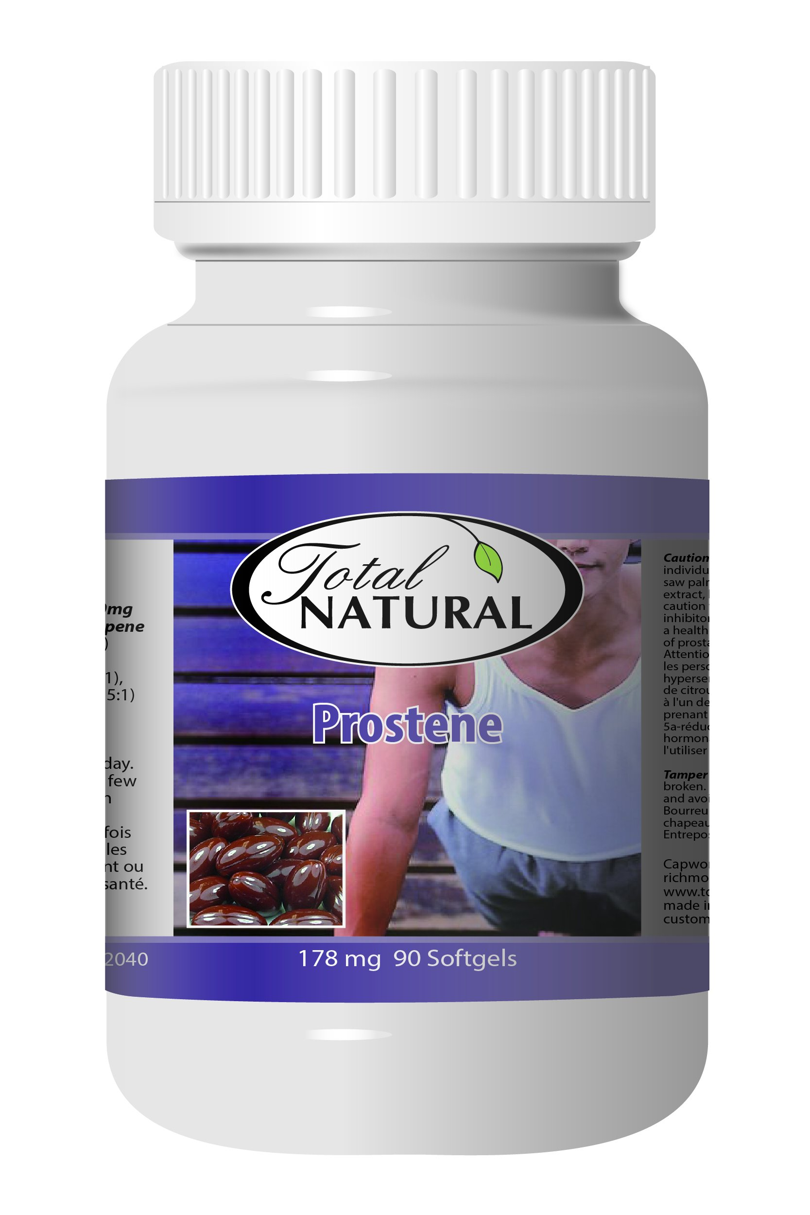 Prostene 178mg 90s - [12 bottles] Men And Sex Health Care by Total Natural (Image #1)