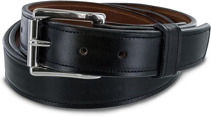 """Men/'s Leather Lined Belt in Tan 1/"""" Wide 48/"""" Waist 32/"""""""