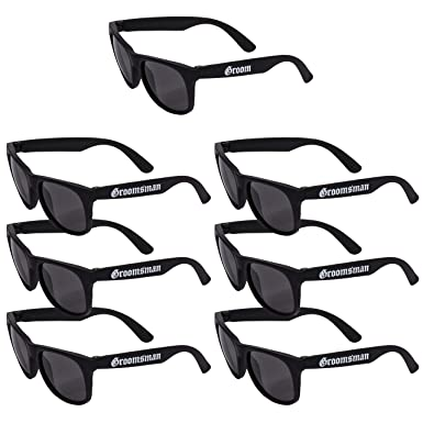 Amazon.com: Gafas de sol Groom & Groomsman, regalo de boda ...