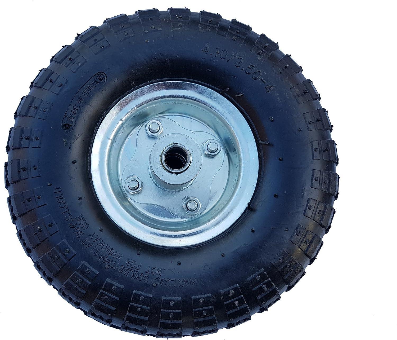 Achse 16 mm Luftrad Kugellager Stahlfelge Silber Frosal Luft Rad Bollerwagen /Ø 260 mm 4.10//3.50-4 Ersatzrad Reifen Sackkarre