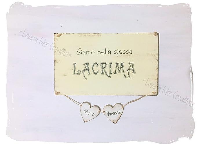 San valentino targa regalo personalizzata frase d amore nomi