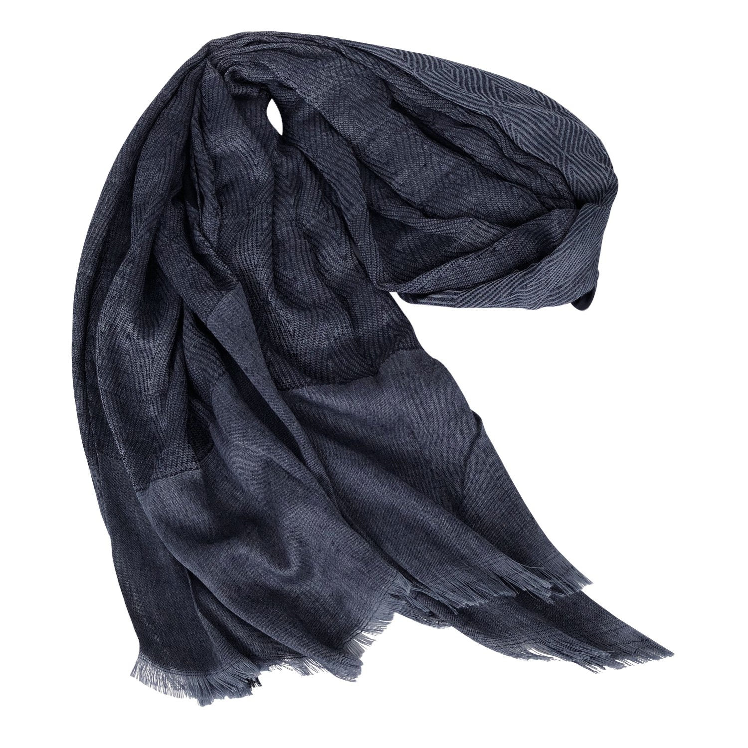 GERINLY Men Scarves Twill Cotton-Linen Long Winter Scarf (NavyBlue) by GERINLY (Image #6)