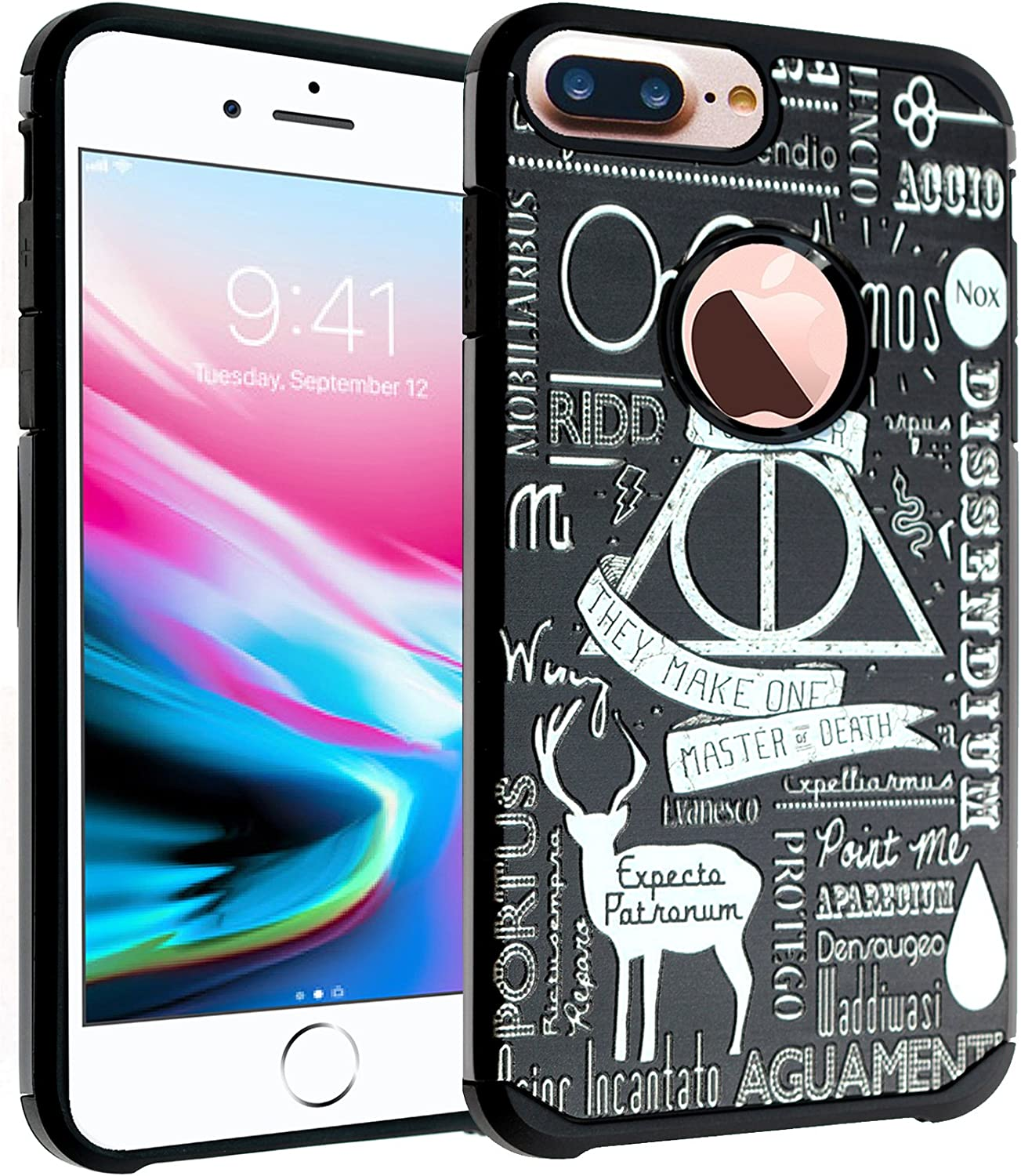 iPhone 7 Plus Case DURARMOR Star Wars Imperial Logo Dual Layer Hybrid ShockProof Ultra Slim Fit Armor Air Cushion Defender Protector Cover for iPhone 7 Plus Imperial Star Wars Logo