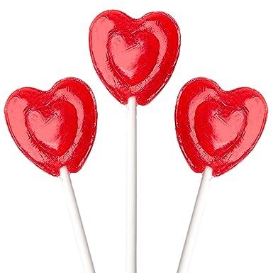Valentines Day Cherry Luvs Pops - Chupetes con forma de ...