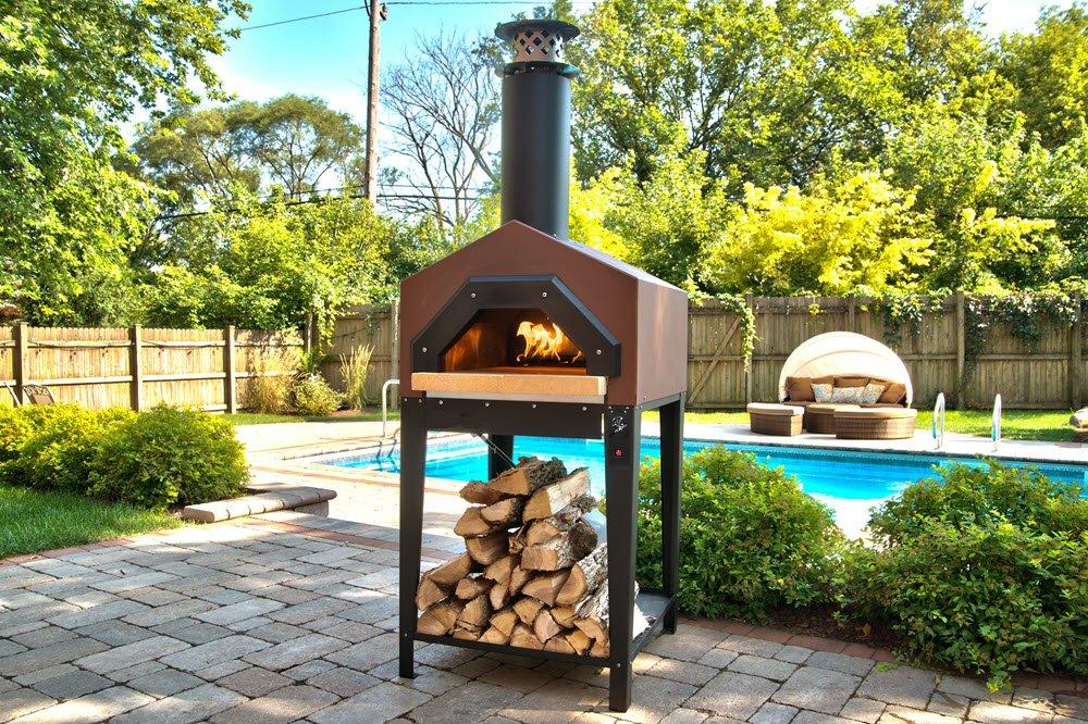 Chicago al aire libre Pizza horno de leña horno Americano de ...