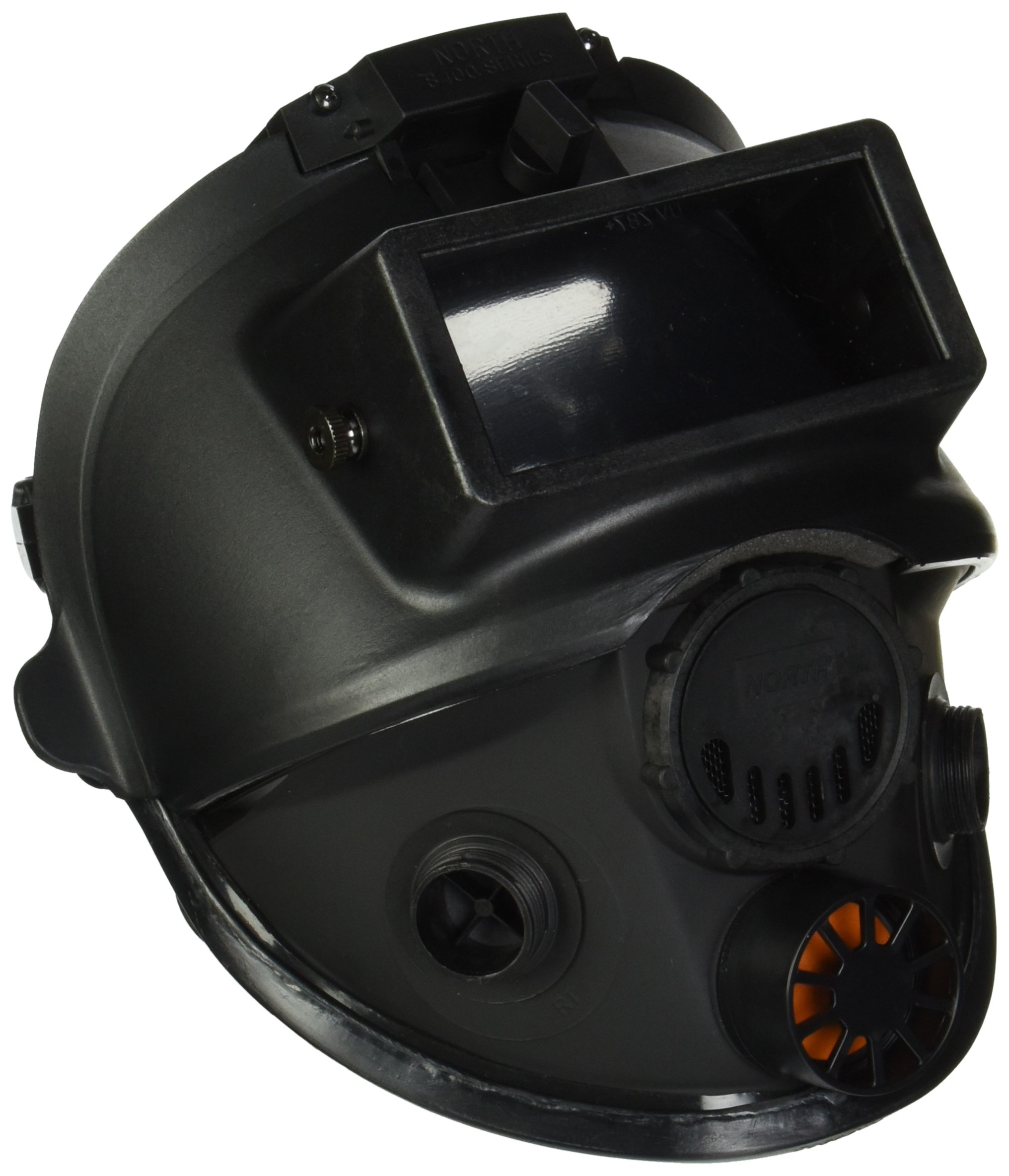 7600 Series Silicone Full Facepiece with Welding Attachment, 5 Strap Head Harness & Dual Cartridge Connectors, Size Medium/Large by North