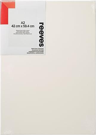 Reeves - Lienzo de algodón A2 - Blanco: Amazon.es: Hogar