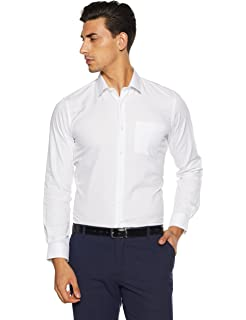 Peter England Men's Plain Slim Fit Formal Shirt at amazon