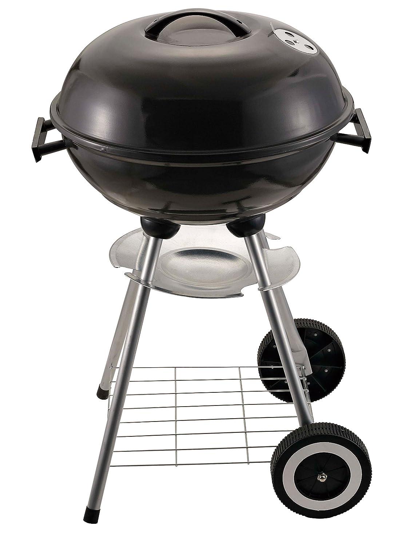 yanka de carrito Style BBQ Barbecue Grill - Barbacoa (Carbón vegetal parrilla/Barbacoa/Barbacoa redonda (/Stand parrilla), color negro: Amazon.es: Jardín