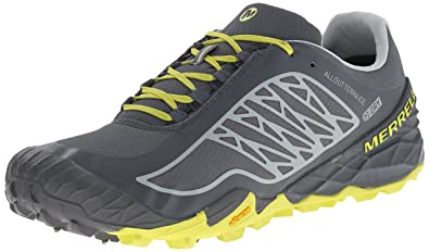 Merrell Mens All Out Terra Ice Waterproof Trail Running Shoe TurbulenceBright Yellow