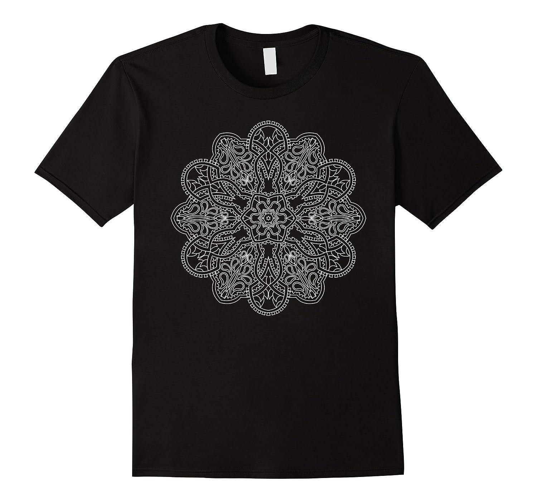 Mandala T Shirts - White Mandala Shirt 4-TD