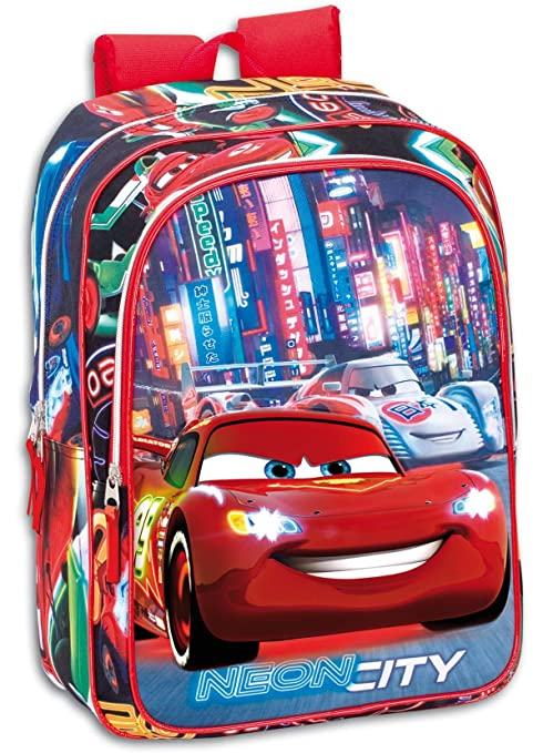 Cars - Mochila junior, color azul y rojo (Montichelvo 21362 ...