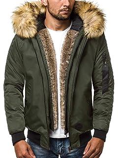 OZONEE Herren Winterjacke Parka Jacke Kapuzenjacke Wärmejacke Wintermantel  Coat Wärmemantel Warm Modern Täglichen N 5307 72ac4efb5c