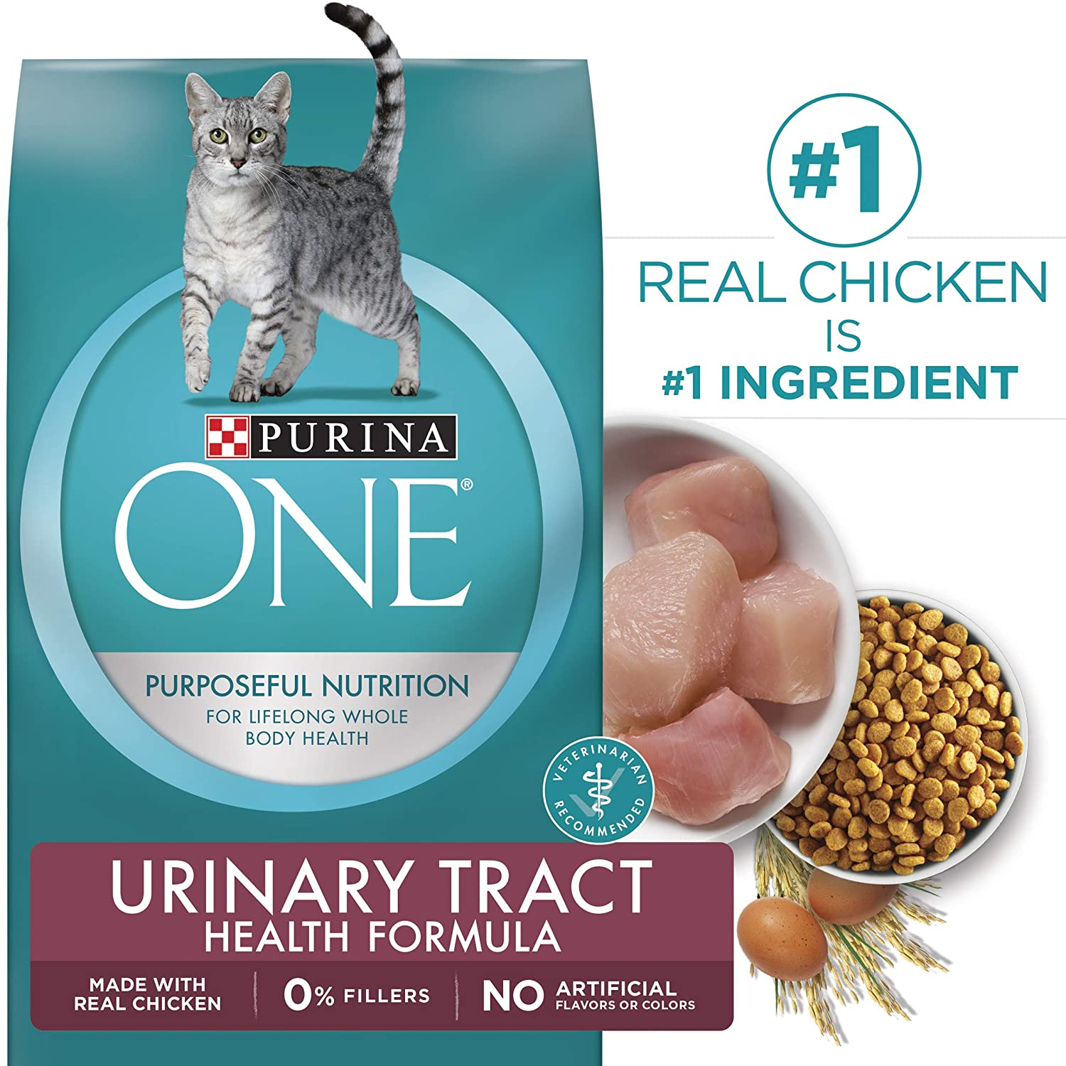 16 LB Purina ONE Dry Cat Food, Urinary Tract Health Formula, 16-Pound Bag, Pack of 1