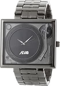 Flud Men's TBL005 Tableturns Gun Metal Plated Stainless Steel Watch