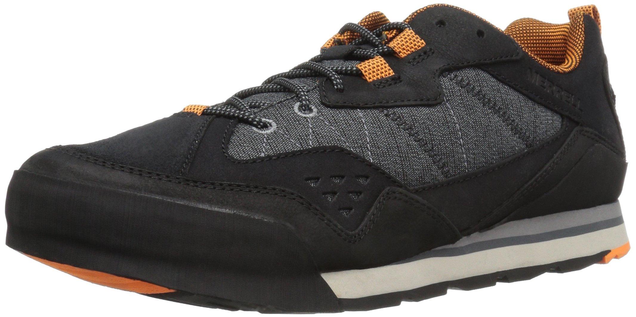 Merrell Men's Burnt Rock Fashion Sneaker, Black, 11.5 M US