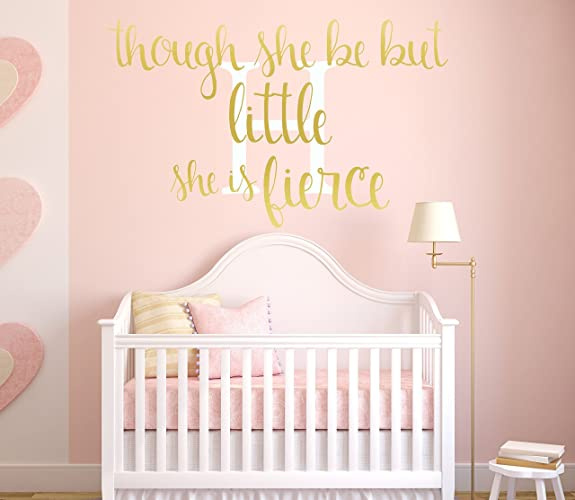 Amazoncom Pink And Gold Nursery Decor Metallic Gold Vinyl - Personalized vinyl wall art decals