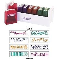 ECR4Kids Self-Inking Teacher Stamp Sets, Assorted Phrases