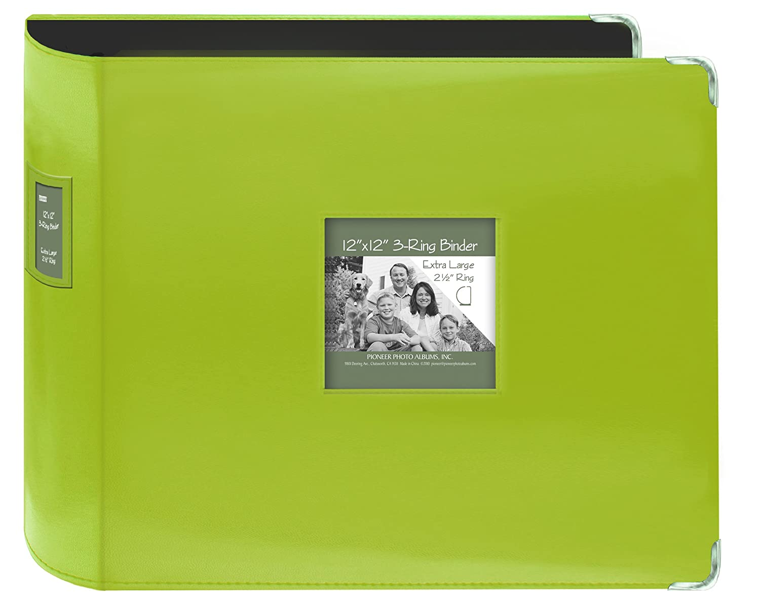 Pioneer Photo Albums T-12JF//C Jumbo 3-Ring Sewn Leatherette Frame Cover Memory Book Binder Bright Blue