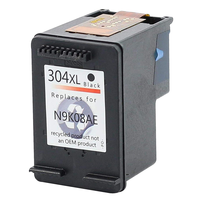 Bubprint Impresora Tinta Color Negro Compatible con HP 304 XXL con indicador HP Deskjet 3730 3720 3732 3700 | (410 Páginas – 16 ml)