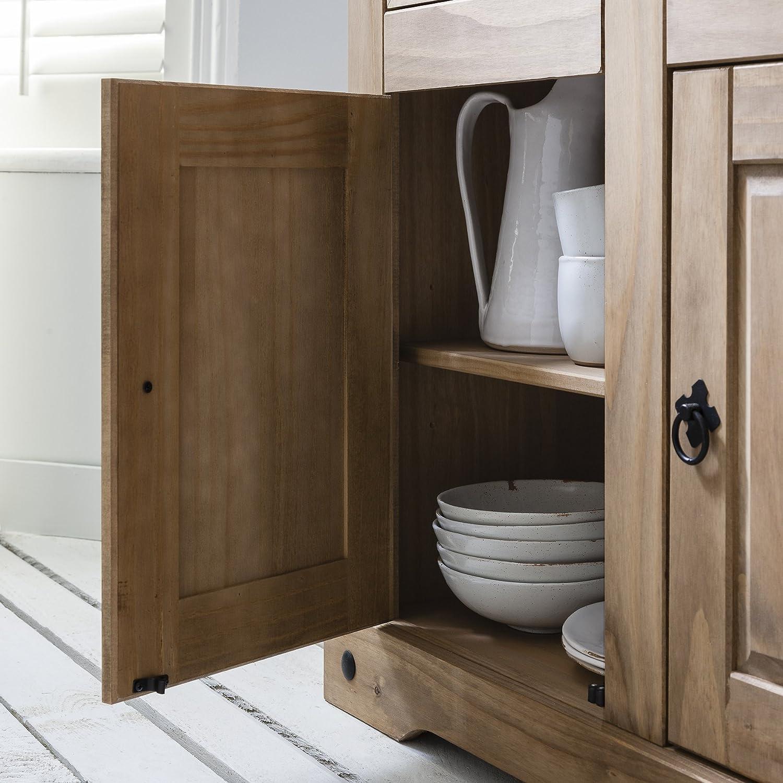 Möbel Anrichte Sideboard Kommode Stil 3 Türen 3 Schubladen gebeizt ...