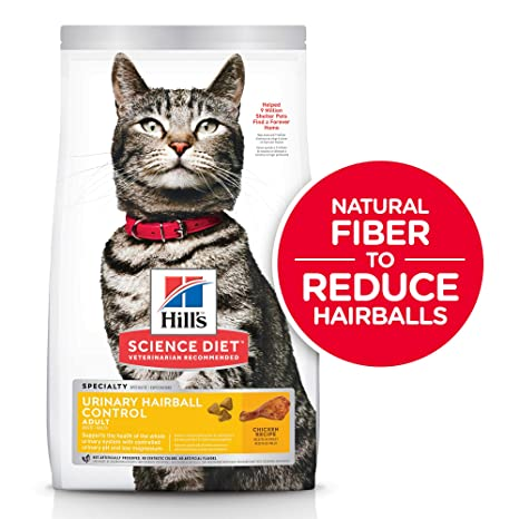 Hills Science Diet Dry Cat Food, Adult, Urinary & Hairball Control, Chicken Recipe