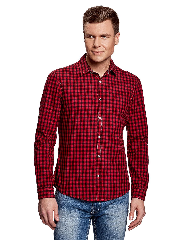 oodji Ultra Uomo Camicia Slim Fit a Quadri