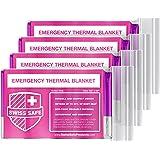 Emergency Mylar Thermal Blankets (4-Pack) + Bonus Signature Gold Foil Space Blanket: Designed for NASA, Outdoors, Hiking, Sur