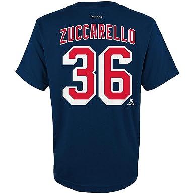 low priced 9bffb fe89c Amazon.com: Mats Zuccarello New York Rangers #36 Navy Youth ...