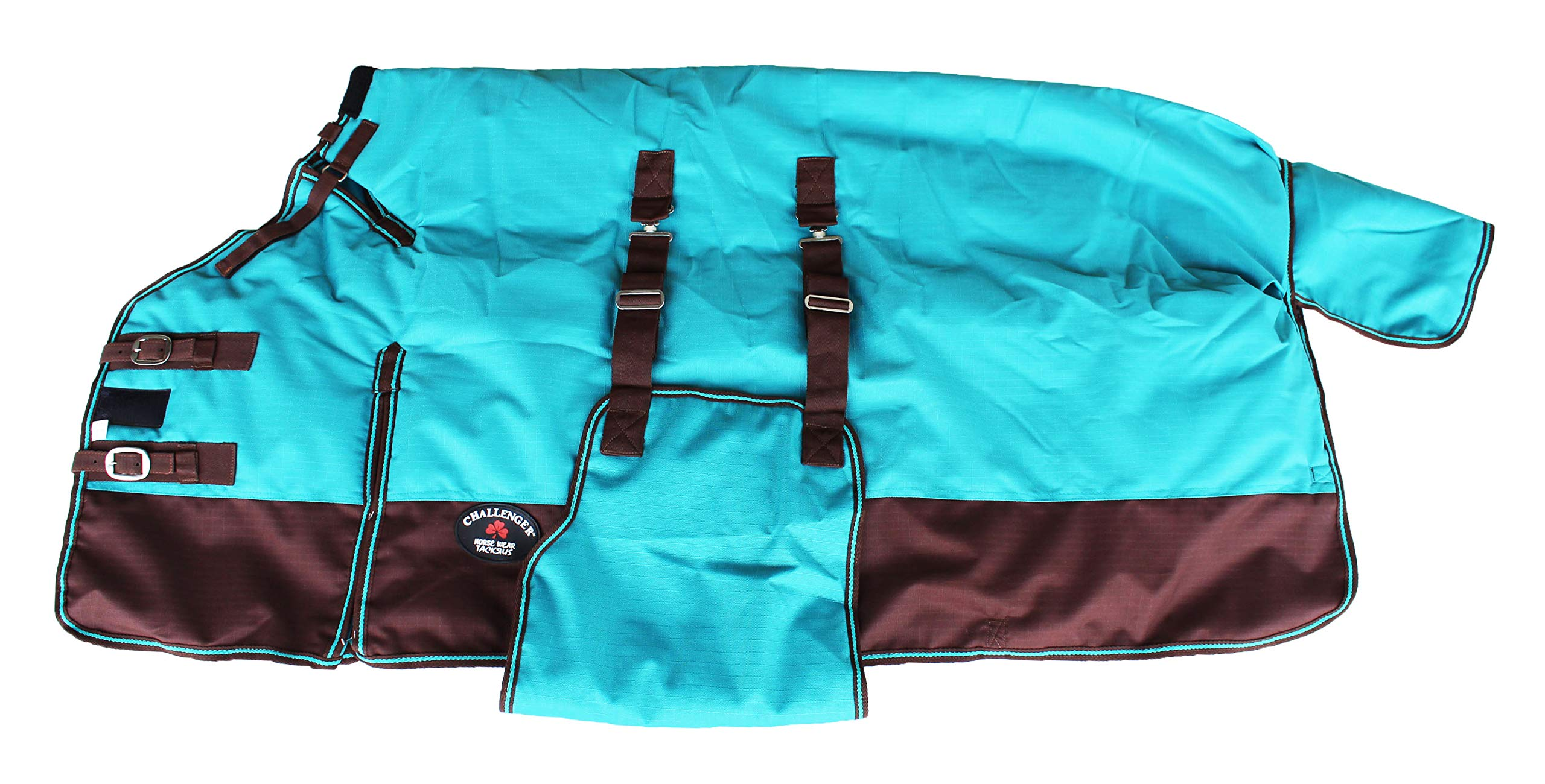 CHALLENGER 74'' 1200D Horse Bellyband Turnout Heavy-Weight Winter Blanket 583B by CHALLENGER