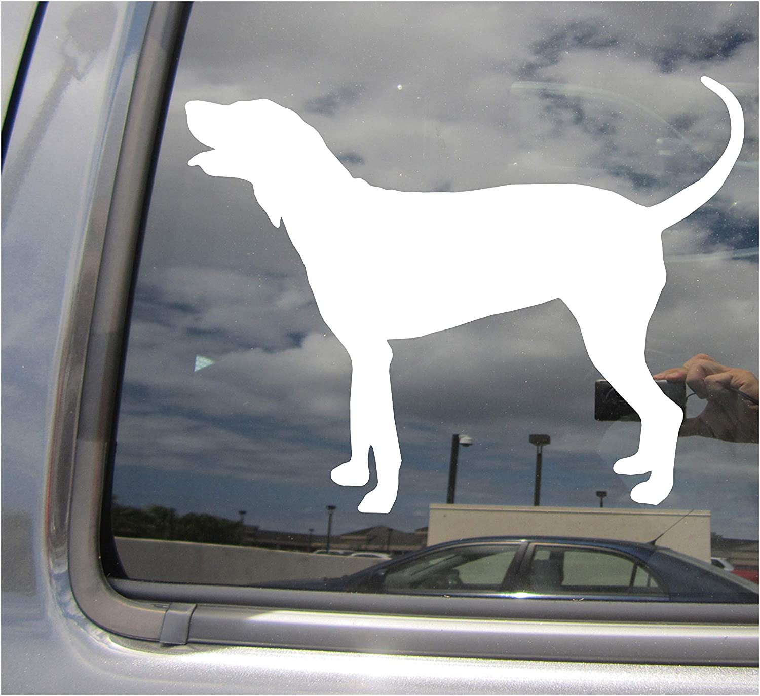 I love my Bluetick Coonhound dog bumper vinyl stickers 1 large 2 small 3