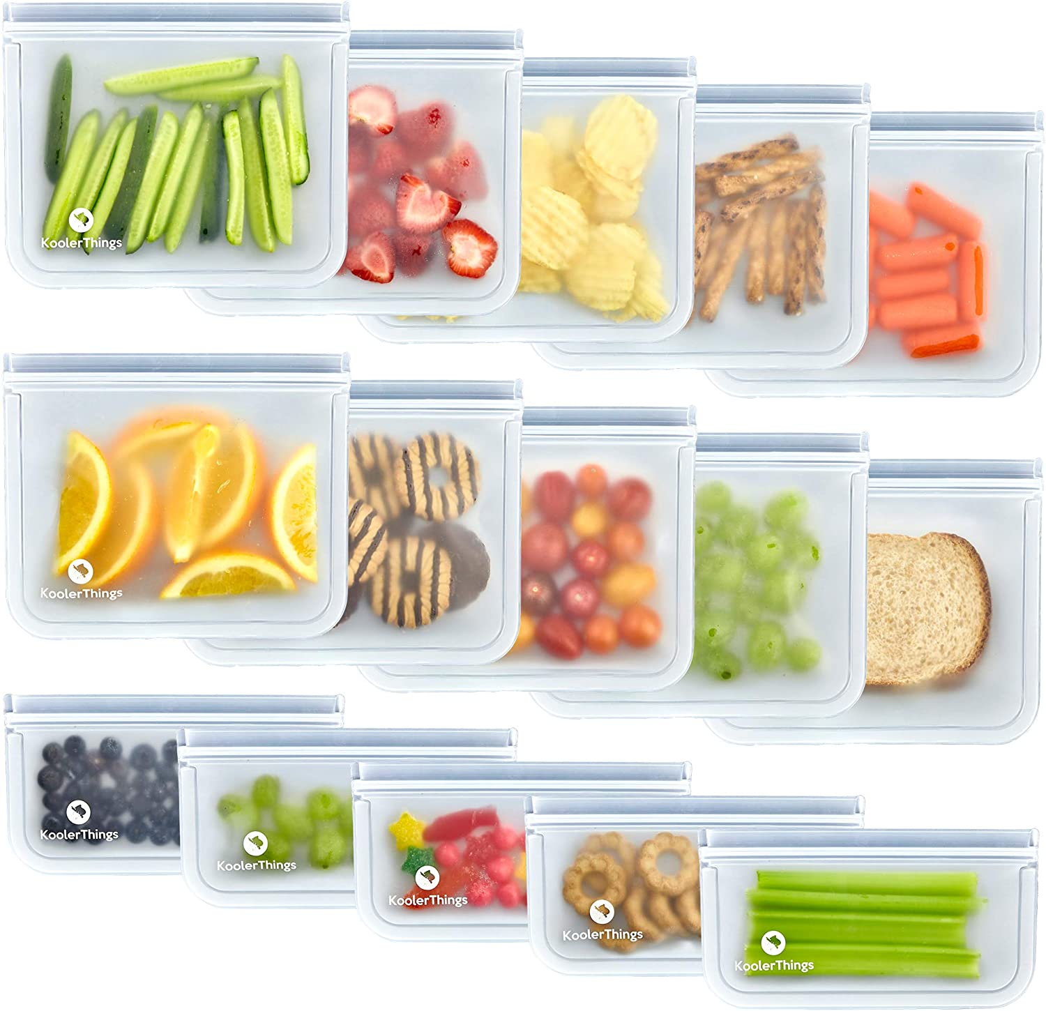 Leakproof Sandwich Food Storage Bags Freezer Bags Containers Kitchen Organizer