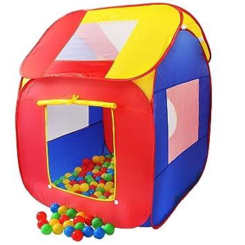 KIDUKU Tienda de campaña infantil piscina de bolas tienda de tela para niños pop up +