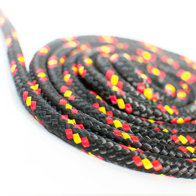 20m POLYPROPYLENSEIL 3mm SCHWARZ Polypropylen Seil Tauwerk PP Flechtleine Textilseil Reepschnur Leine Schnur Festmacher Rope Kunststoffseil Polyseil geflochten