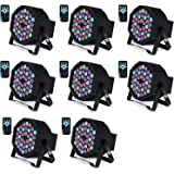 DJ Lights Missyee 36 X 1W RGB LEDs DJ LED Uplighting Package Sound Activated Stage Par Lights with Remote Control…